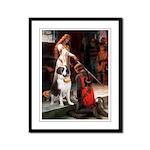 Accolade / St Bernard Framed Panel Print