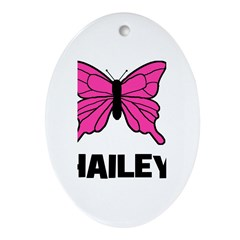 Butterfly - Hailey Oval Ornament