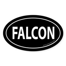 FALCON Auto Sticker -Black (Oval)