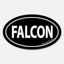 FALCON Auto Sticker -Black (Oval)