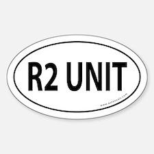 R2 Unit Auto Sticker -White (Oval)