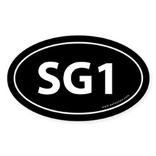SG1 Auto Sticker -Black (Oval)