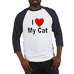 I Love My Cat (Front) Baseball Jersey