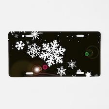 Snowflake Christmas Backgro Aluminum License Plate