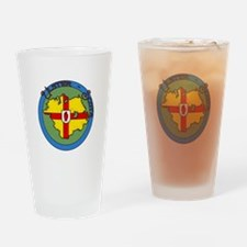 Ulster-Scots flag & map logo Drinking Glass