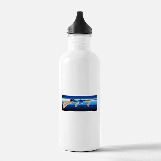 Gangsters Tommy Gun Water Bottle