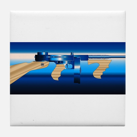 Gangsters Tommy Gun Tile Coaster