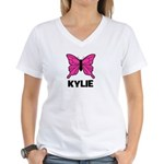Butterfly - Kylie Women's V-Neck T-Shirt