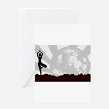 Tree Asana Practice Greeting Cards