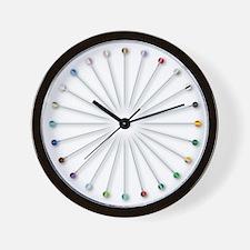 Sewing Knob Pin Collection Wall Clock
