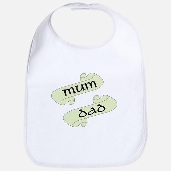 Mum and Dad Scrolls Bib