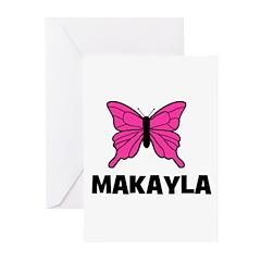 Butterfly - Makayla Greeting Cards (Pk of 20)