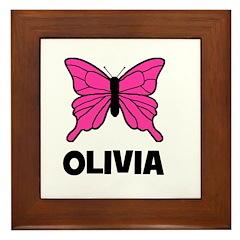 Butterfly - Olivia Framed Tile