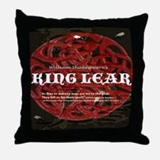 King Lear quote Throw Pillow