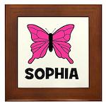 Butterfly - Sophia Framed Tile