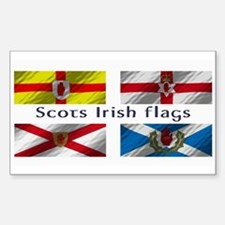 Scots-Irish flags Decal