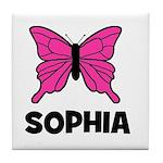 Butterfly - Sophia Tile Coaster