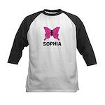 Butterfly - Sophia Kids Baseball Jersey