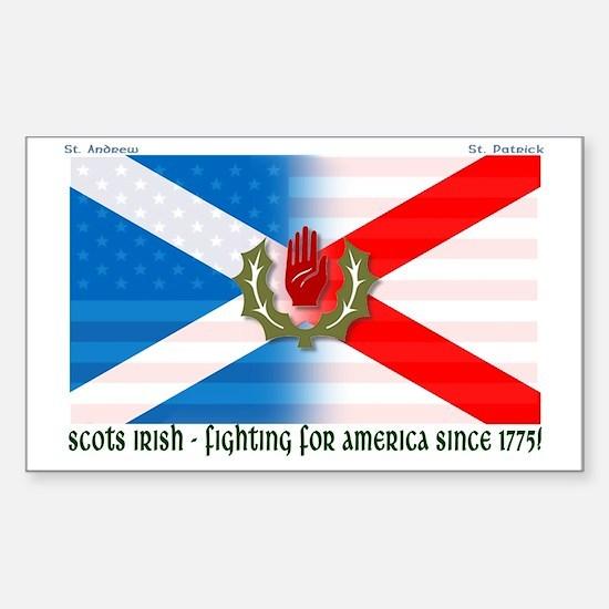 Scots-Irish - fighting for america Decal