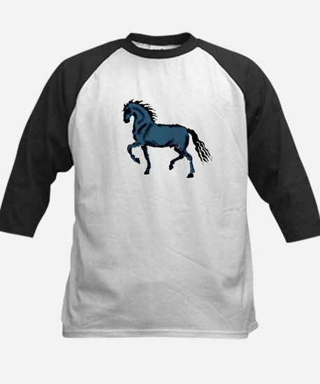 Baroque Horse Woodblock Kids Baseball Jersey