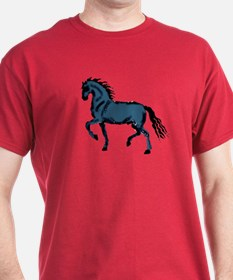 Baroque Horse Woodblock T-Shirt