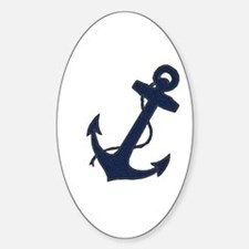Anchored Oval Decal
