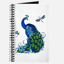 Blue Peacock and Dragonflies Journal