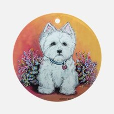 West Highland White Portrait Ornament (Round)