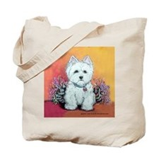 West Highland White Portrait Tote Bag