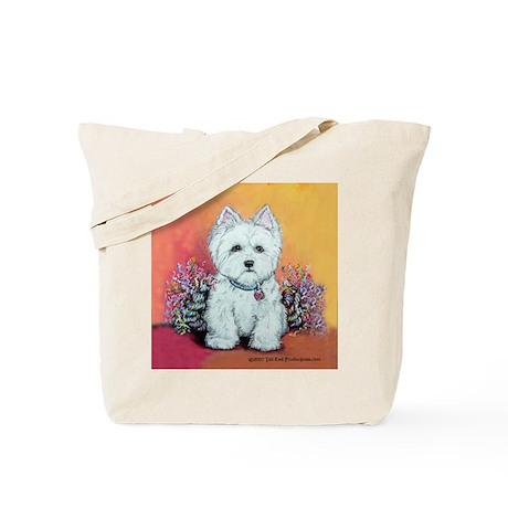 West Highland White Portrait Tote Bag