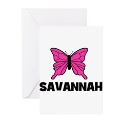 Butterfly - Savannah Greeting Cards (Pk of 10)