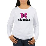 Butterfly - Savannah Women's Long Sleeve T-Shirt