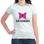 Butterfly - Savannah Jr. Ringer T-Shirt