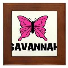 Butterfly - Savannah Framed Tile