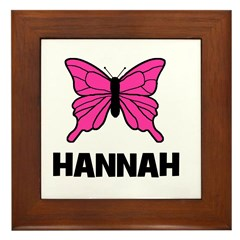 Butterfly - Hannah Framed Tile