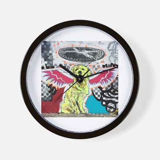 Angellic Dog Wall Clock