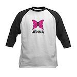 Butterfly - Jenna Kids Baseball Jersey