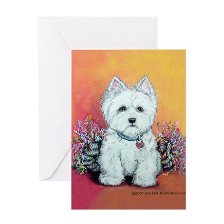West Highland White Portrait Greeting Card