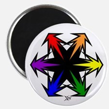 Rainbow Spike Arrow Magnet