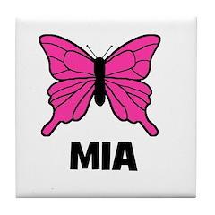 Butterfly - Mia Tile Coaster