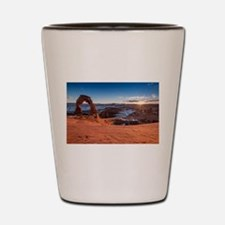 Cute Arches moab jeep Shot Glass
