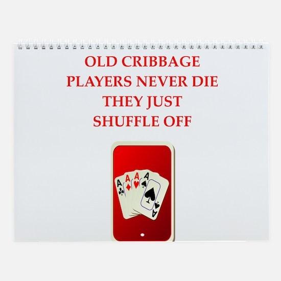 Cribbage Wall Calendar