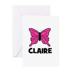 Butterfly - Claire Greeting Card