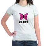 Butterfly - Claire Jr. Ringer T-Shirt