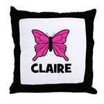 Butterfly - Claire Throw Pillow
