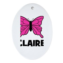 Butterfly - Claire Oval Ornament