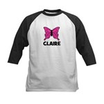Butterfly - Claire Kids Baseball Jersey