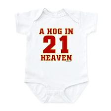 (21) A HOG IN HEAVEN Infant Bodysuit