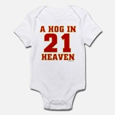 (21) A HOG IN HEAVEN Infant Bodysuit