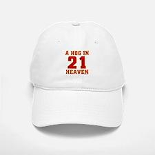 (21) A HOG IN HEAVEN Baseball Baseball Cap